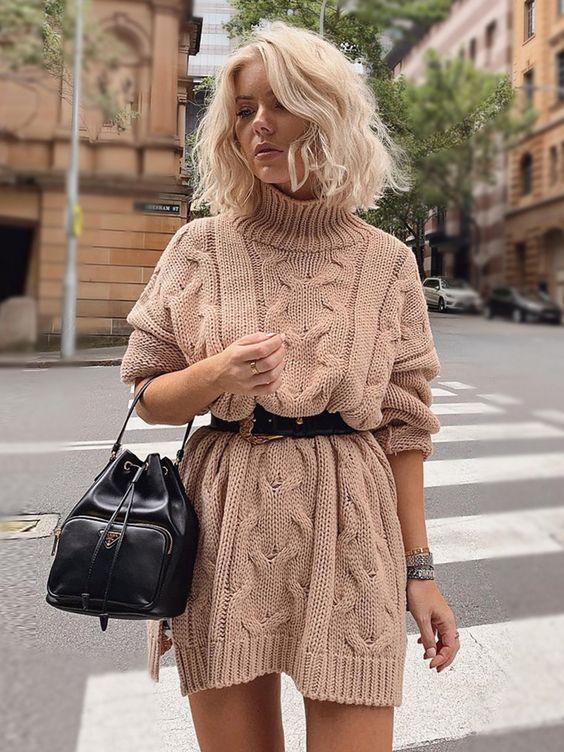 Triko Elbise Modelleri Ve Kombinleri 2020 The Dress Moda Stilleri Triko