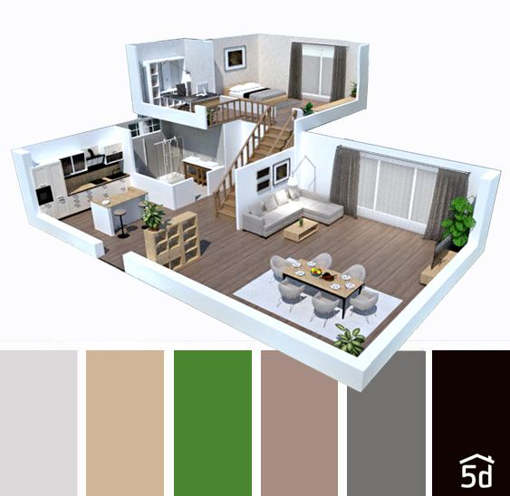 Interior Floor Plan Color Palette Brown And Grey Color Color Balance Interior Ideas House Interior P Home Design Software Floor Planner Floor Plan Design