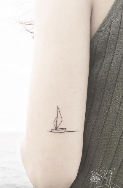 Sail Away Tiny Tattoo