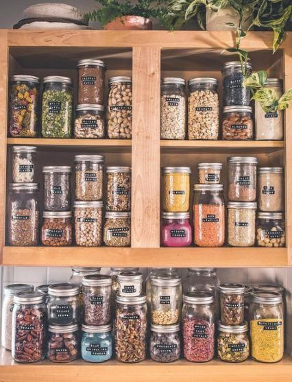 15 Trendy Ideas Kitchen Design Pantry Glass Jars Kitchen Organization Pantry Jar Storage Pantry Organisation