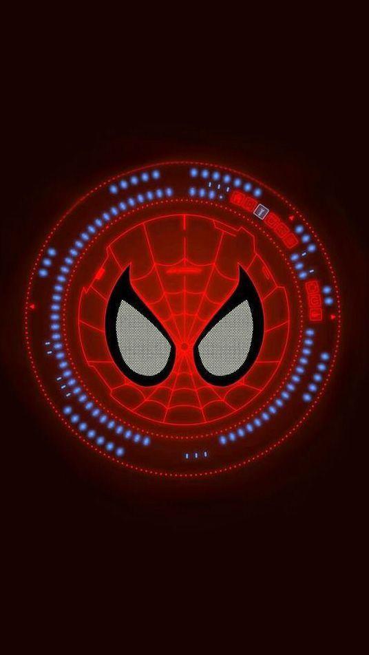 Spider Man Neon Logo Wallpaper Marvel Wallpaper Spiderman