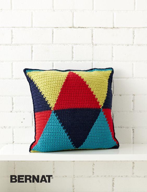 Bold Angles Pillow Patterns Yarnspirations Crochet