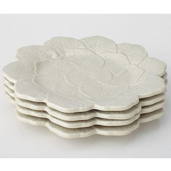 Geranimum Holiday Dessert Plates, Set of 4 | The Company Store