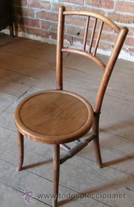 Silla antigua toda de madera estructura y asiento - Sillas antiguas de madera ...