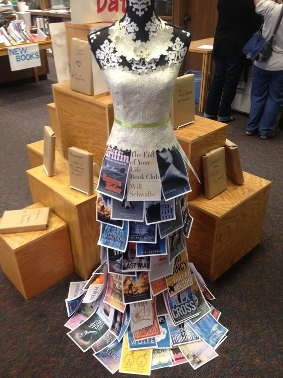 Visit the book dress at Ouachita Valley Branch Library and go on a blind date with a book.: