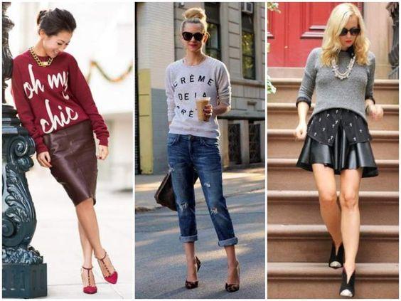 Moletom Fashionista de volta a tendência da moda outono/inverno 2017: