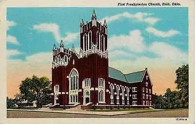 Enid Oklahoma OK 1928 First Presbyterian Church Collectible Vintage Postcard
