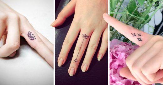15 Disenos De Tatuajes En Los Dedos Tan Lindos Que Seran Otra Joya En Tus Manos Tatuajes En Los Dedos Dedos Disenos De Unas