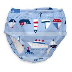 i play.® Ultimate Light Blue Boat Parade Swim Diaper