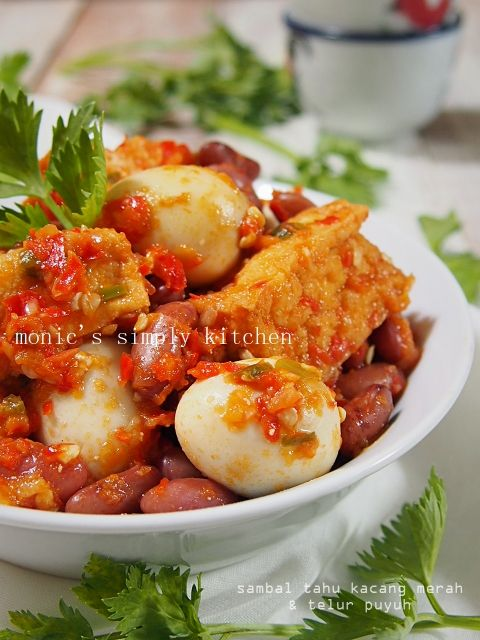 Sambal Kacang Merah Telur Puyuh Kacang Merah Resep Masakan Indonesia Kacang