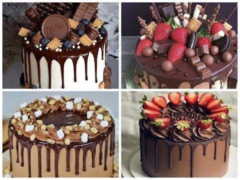 خطوات تزيين الكيك و عمل اشكال جميلة تزيين تورتة سهلة و سريعة Youtube Drip Cakes Doctor Cake Desserts