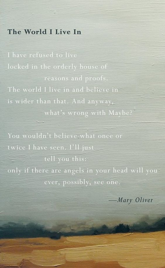 a look into the life and poetry of mary oliver Poems by mary oliver  copyright © mary oliver 14 a meeting she steps into the dark swamp  to live my life all over again, to begin again.