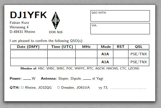 Dj1yfk Ham Stuff Regarding Best Qsl Card Template Card Template Business Cards Creative Templates Business Card Template Psd