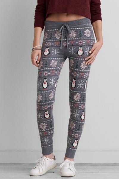 AEO Hi-Rise Sweater Legging by AEO | We switched it up for sweater weather