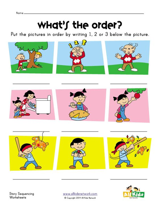 story sequence worksheet | sequences | Pinterest | Worksheets and ...