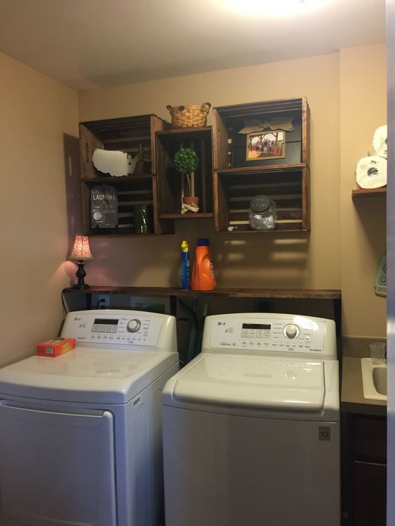 Laundry remodel! Hated the white wire shelving !