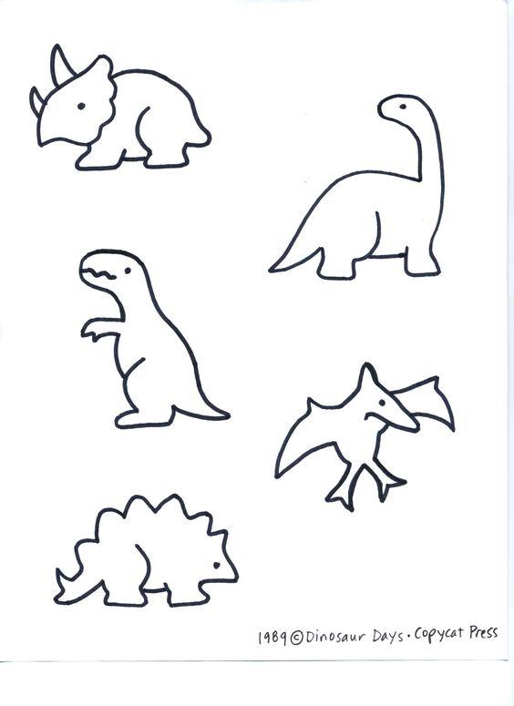 Dino patterns for preschool   Dinosaurs [pattern]
