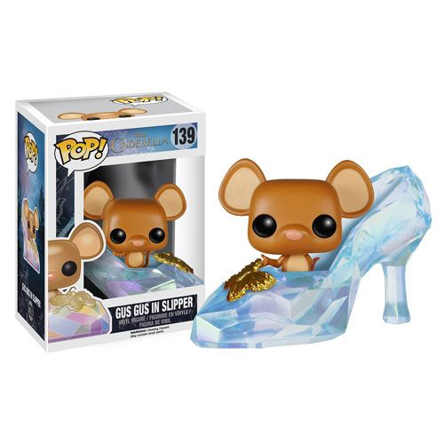 Gus Gus in Slipper vinyl figure from the 2015 live-action Disney film Cinderella  Brought to you by Pop in a box, the UK Funko Pop! Vinyl shop. Add Gus Gus in Slipper to your collection tracker today.