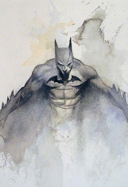 watercolor batman