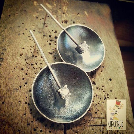 Pendientes de plata y circonita!   Circensejewels.blogspot.com