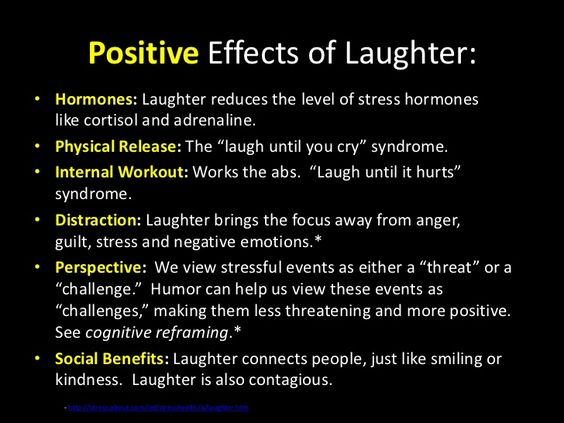 Self-control - laughter is the best medicine
