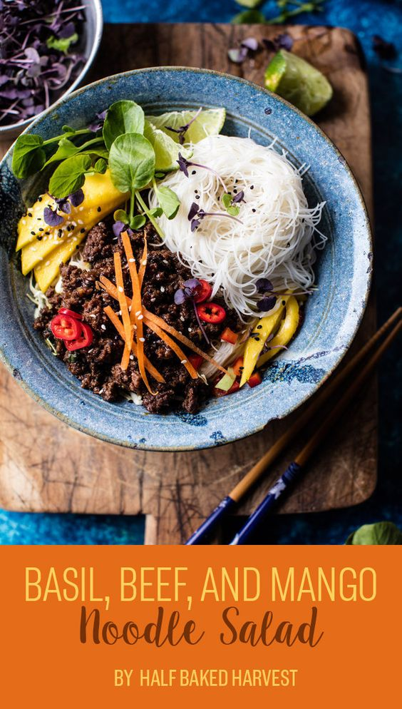 Basil, Beef, and Mango Noodle Salad | What To Eat For Dinner This Week ...