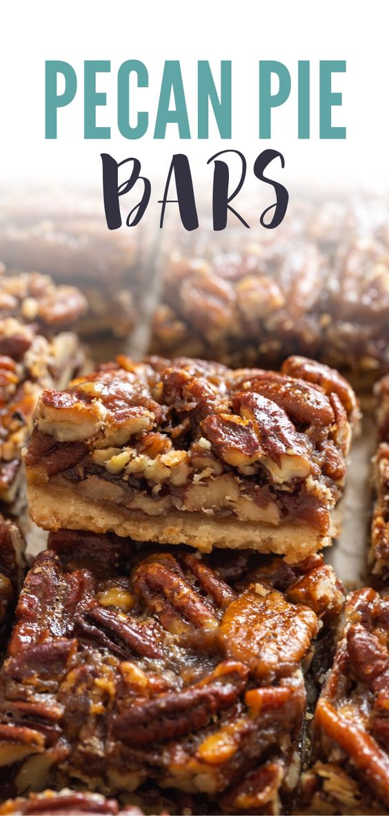 Pecan Pie Bars. Image from Baked By An Introvert