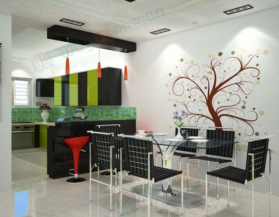 Best Simple  Kitchen  Interior  Design For 1Bhk House 400 x 300