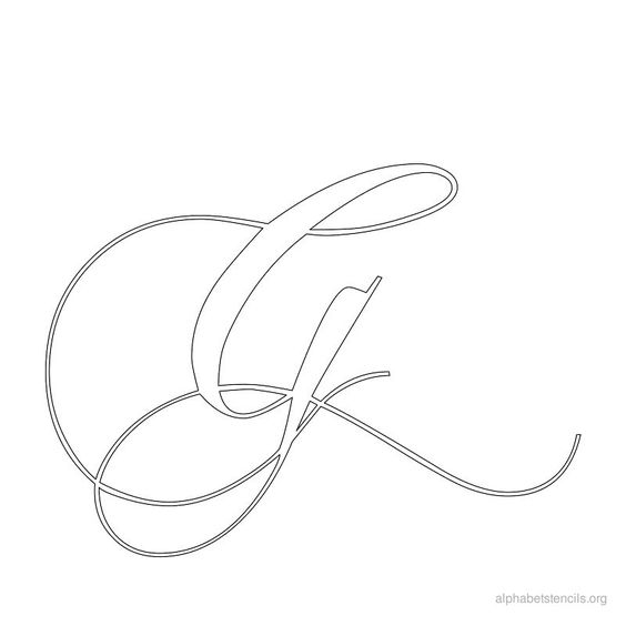 Printable stencils calligraphy and on pinterest