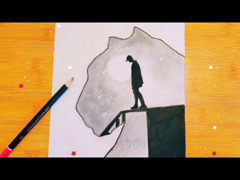 Drawing Tutorial For Beginners رسم سهل رسم تعبيري بطريقة سهلة جدا للمبتدئين خطوة بخطوة Youtube Moose Art Art Drawings