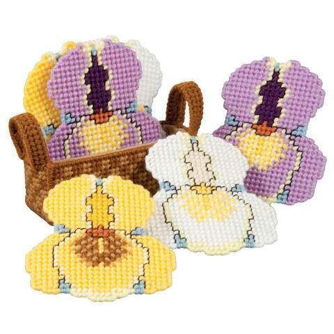 Craftways® Iris Coasters with Holder Plastic Canvas Kit Was: $16.00                     Now: $12.99: