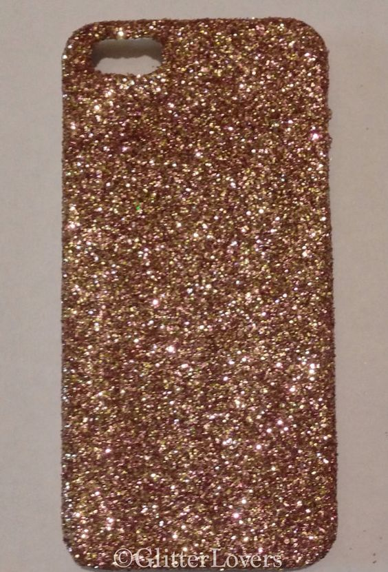 real rose gold glitter iphone 4 iphone 4s iphone 5