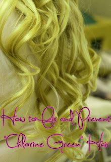 """Mommy Does Hair: How to Fix and Prevent """"Chlorine Green"""" Hair"""