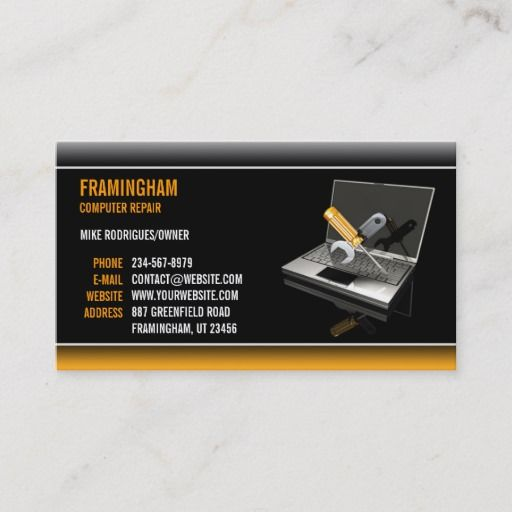 Computer Repair Business Card Zazzle Com In 2021 Business Cards Creative Computer Repair Business Computer Repair
