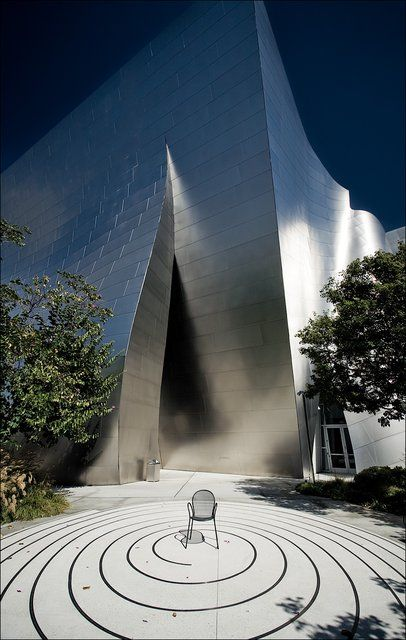 """I've been here before!!! Walt Disney Concert Hall!! AWESOME architecture!!! Interesting fact: They had to """"frost"""" the silver walls because it was blinding people in surrounding homes/apartments and there were multiple complaints, so some walls are shiny and others are frosted. Just FYI. (^_^)"""