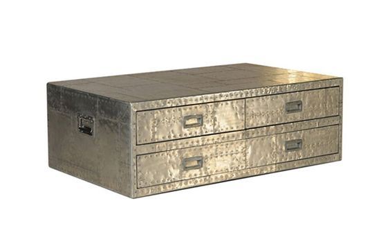 Spitfire Metal Trunk - Large Coffee Table from Fishpools