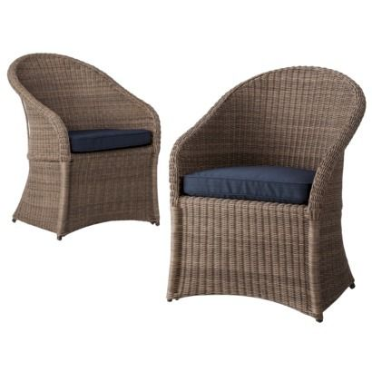 Threshold™ Holden 2-Piece Wicker Patio Dining Chair Set | target