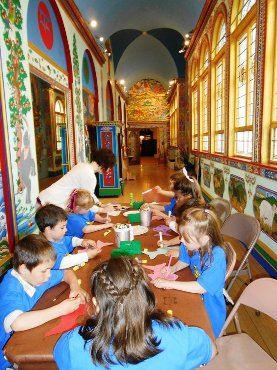These preschool students visited the Art Discover Center as part of their recent field trip.