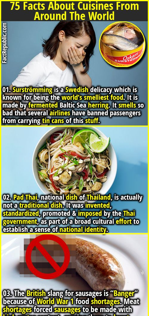 75 Facts About Cuisines From Around The World Wtf Fun Facts Facts