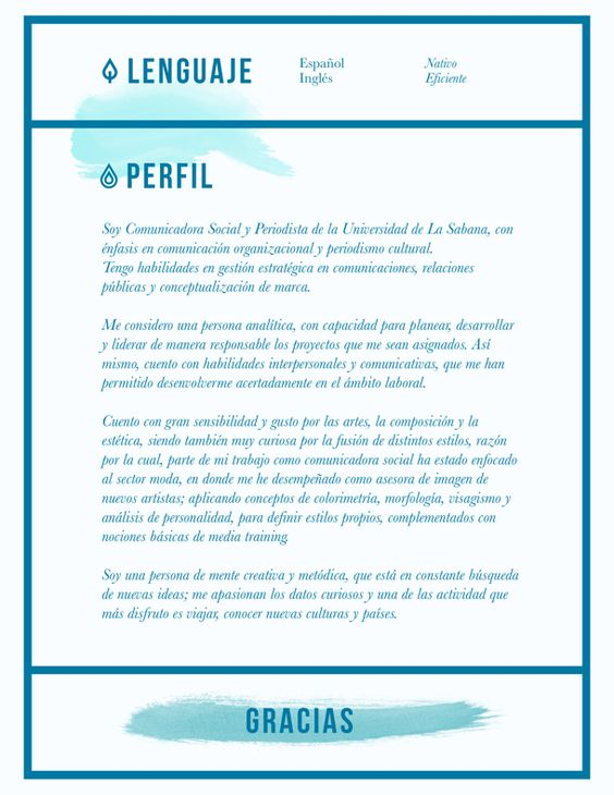 CV, Hoja de Vida, Perfil, Diseño | Alejandra BAHAMÓN | Pinterest ...