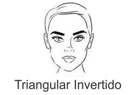 Resultado de imagem para sobrancelha para rosto triangular invertido