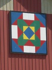 """State Fair"" Barn Quilt – rural Sac City, IA - Painted Barn Quilts on Waymarking.com"