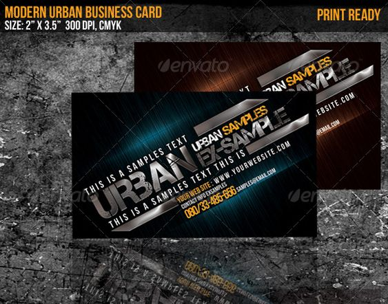 Modern Urban Business Card Colorful Business Card Business Cards Cards
