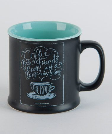 Another great find on #zulily! 'Coffee Friends' Mug by Curly Girl Design #zulilyfinds