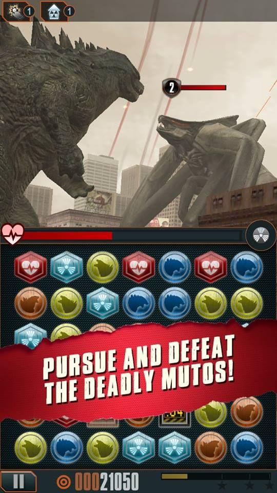 Godzilla Smash3 Game Screenshot Reveals Godzilla vs. Muto!   Godzilla 2014 Movie News