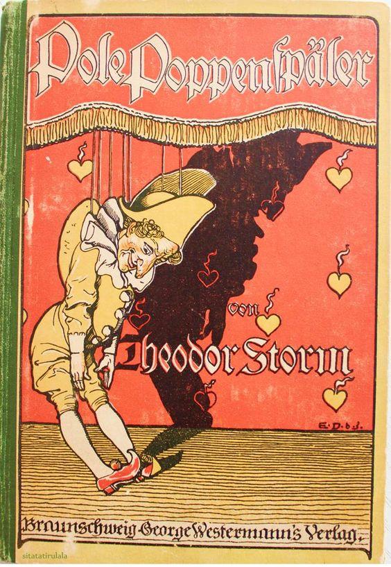 Pole Poppenspäler von Theodor Storm, 1899 Verlag George Westermann, Braunschweig - Einbandillustrtion von Emil Döpler dem Jüngeren