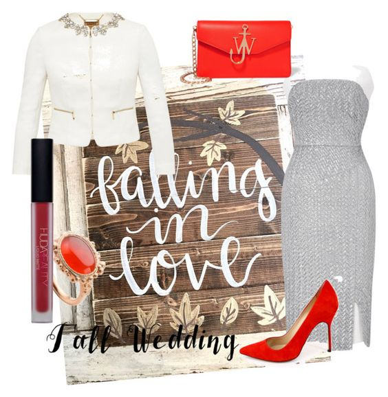 """Fall in love"" by stellamarina465 ❤ liked on Polyvore featuring Roland Mouret, Manolo Blahnik, Ted Baker, J.W. Anderson, Milena Kovanovic, Huda Beauty and fallwedding"