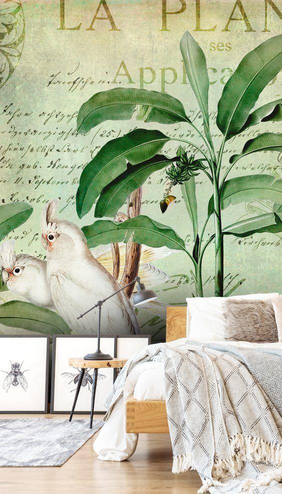 Cockatoos Nostalgic Journey Mural By Andrea Haase Wallsauce Nz Cheap Farmhouse Decor Hippie Home Decor Colorful Wallpaper