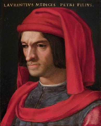 "Lorenzo de' Medici (the ""Magneficent"")(1449-92): significant patron of the arts (son of Cosimo)"
