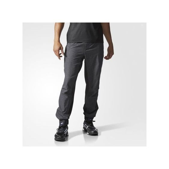 adidas S1 Tech Jogger Pants ($70) ❤ liked on Polyvore featuring activewear, activewear pants, black, adidas activewear, adidas e adidas sportswear
